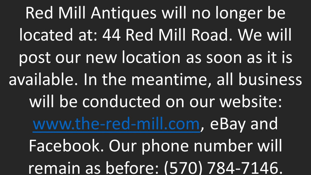 Closed at 44 Red Mill Road