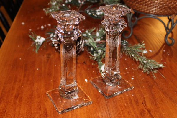 Crystal Candlesticks (Set of Two)