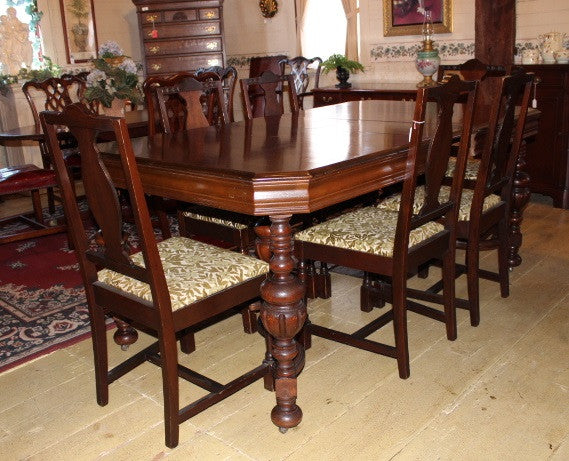 Walnut Jacobean Dining Table