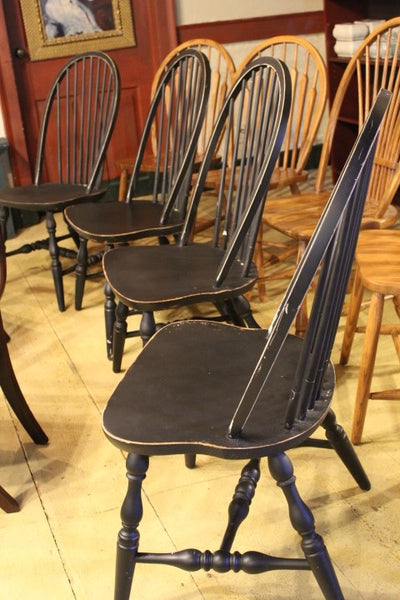 Black Windsor Chairs (Set of 4)