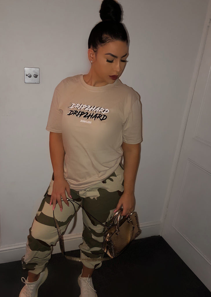 Drip 2 Hard T-Shirt in Nude