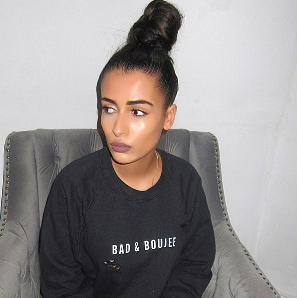 Bad & Boujee Distressed jumper
