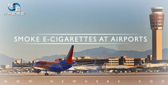 Can you smoke E-Cigarettes at Airports?