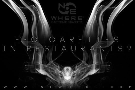 Can you smoke E-Cigarettes in Restaurants?