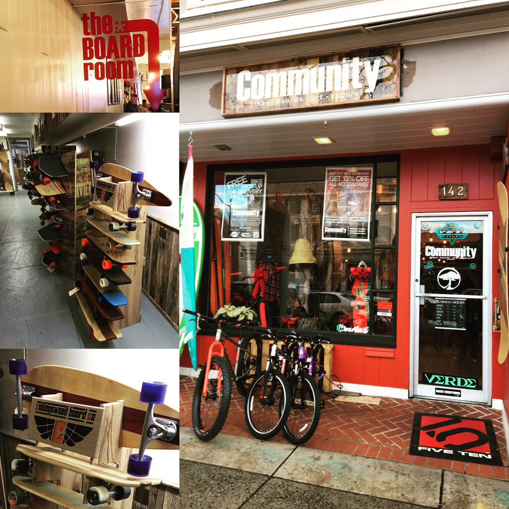 Find us at Community Bikes and Boards!