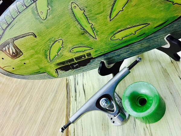 """Lazy Lizard"" Pintail Longboard"