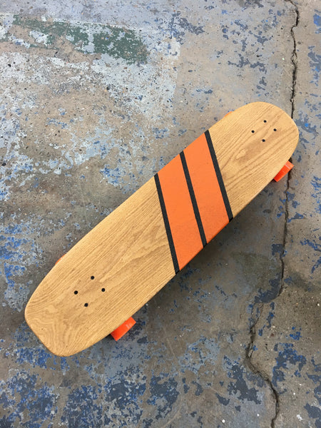 The Big Kick Longboard - Orange Monroe Stripe