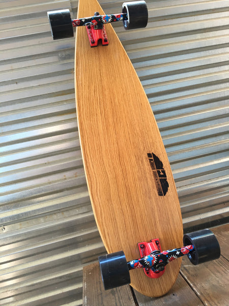 'Local Oak-al' Pin-Tail Longboard