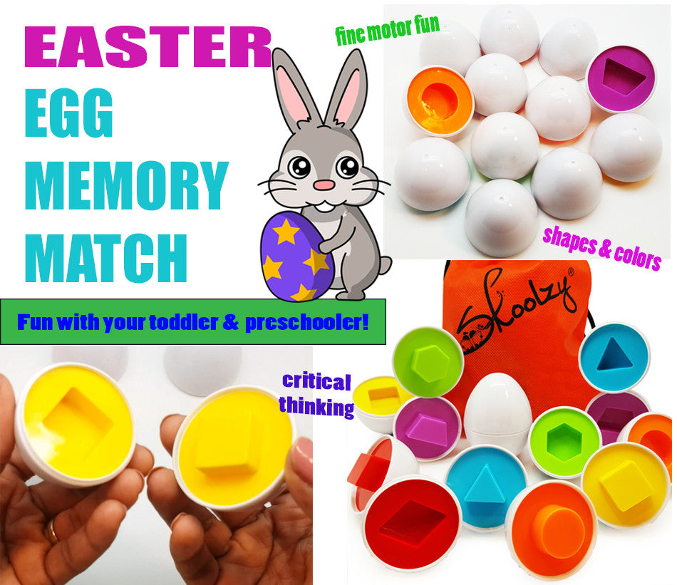 Easter Egg Memory Match Game for Toddlers & Preschoolers