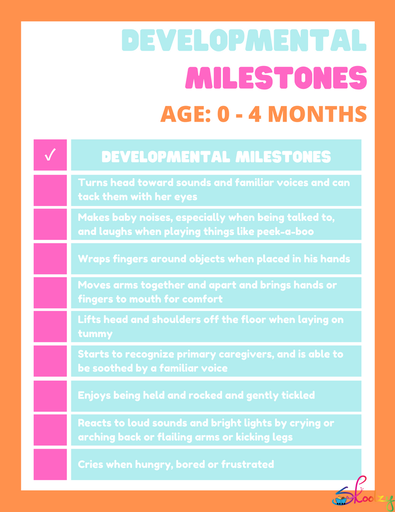 Developmental Milestones: Birth to 4 months
