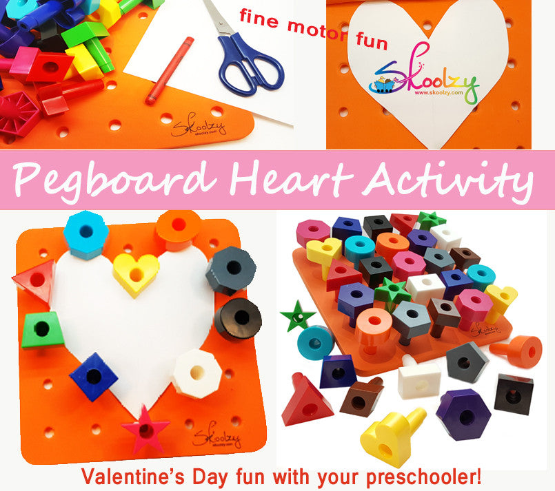 Pegboard Heart Activity - Fine Motor Skills