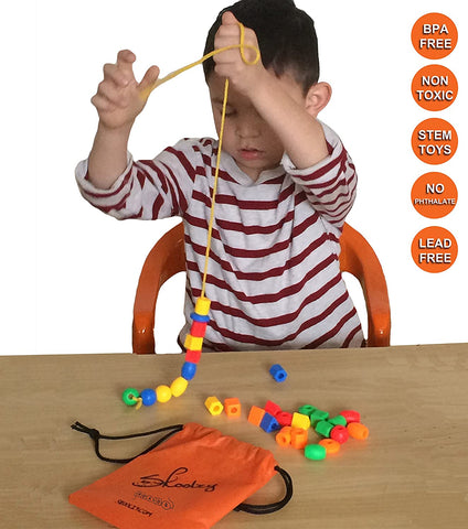 Learning toys toddlers lacing beads