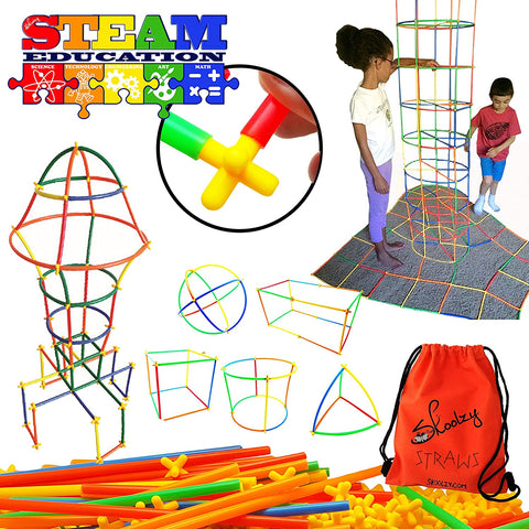 preschool learning toys connect a straws
