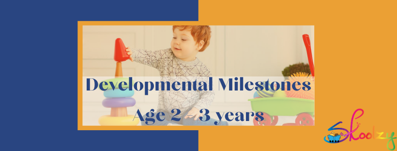 Developmental Milestones 2-3 years