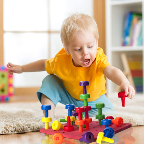 Learning toy toddler jumbo peg board