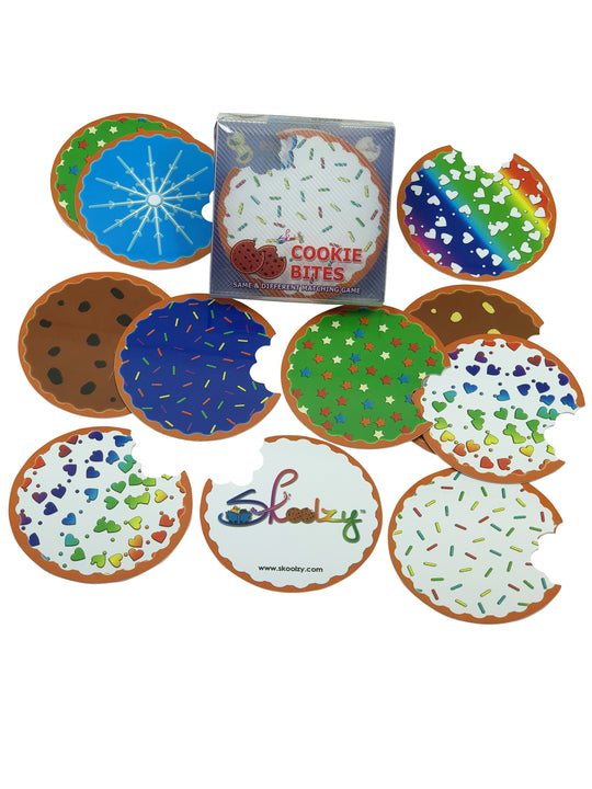 Roll over image to zoom in Skoolzy Cookie Bites Matching Game for Boys & Girls Fun Memory Card Games for Kids Age 3+<p><font><small><b>SK-061</small>