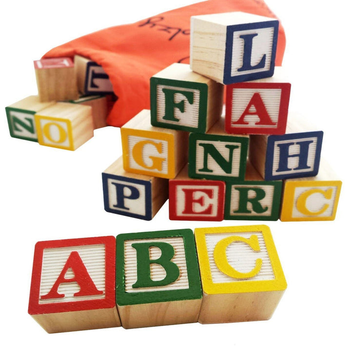 Wooden Alphabet Blocks Toys For Kids