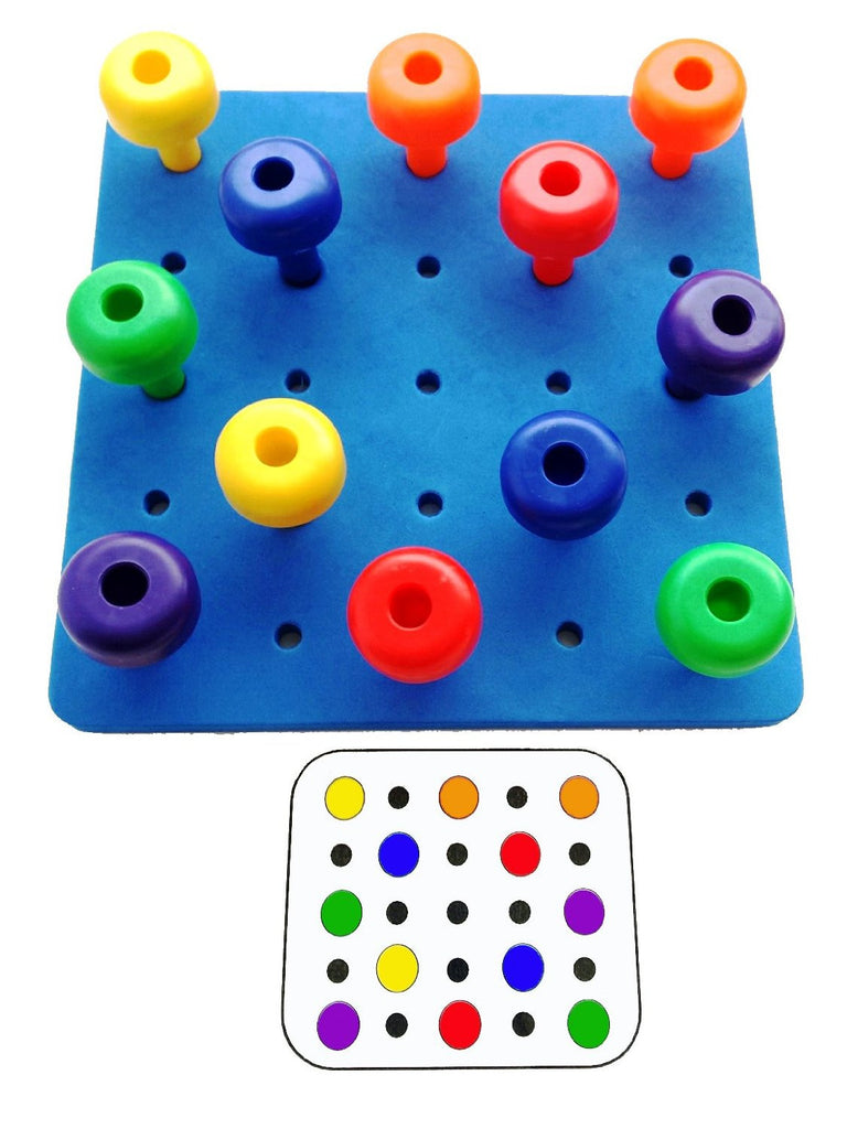 Peg Board Set With Pattern Card Set Peg Board With Card