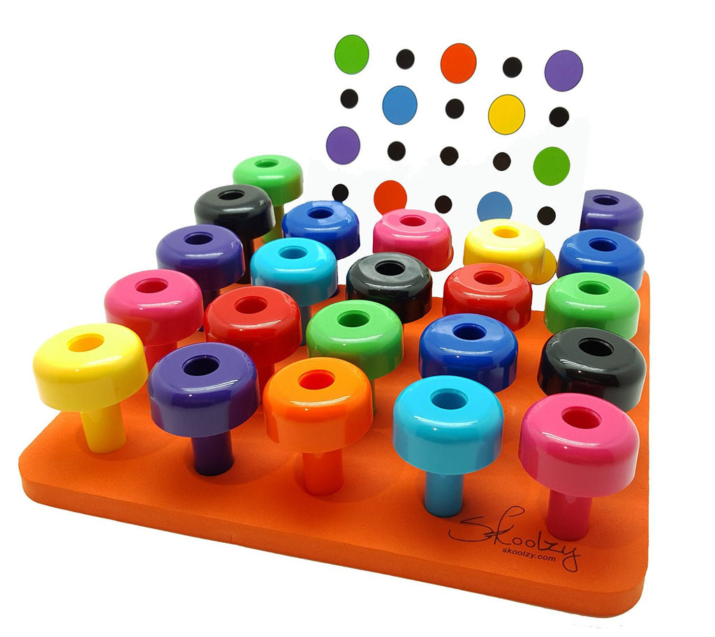 Baby Peg Toys : Peg board set with pattern card