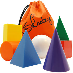 7 Jumbo Geometric Solids 3D Shapes for Kids<p><font><small><b>SK-037</small>