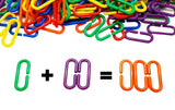 120 Rainbow Math Links With Tote for Toddlers <p><font><small><b>SK-023</small>