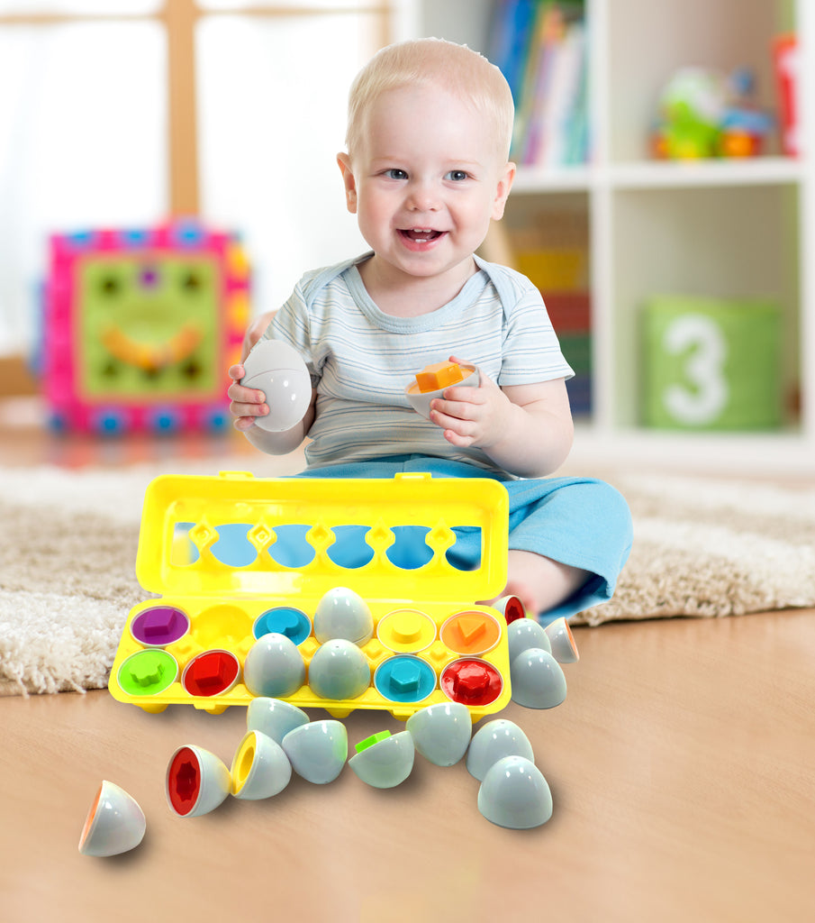 Skoolzy Toddler Toy Eggs - Shapes Puzzles for 2 3 Year ...