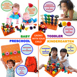 Skoolzy Stacking Toys - STEM Toddler Toys for 2, 3, 4 year old boys or girls - 38pc<p><font><small><b>SK-032</small>