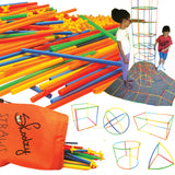 Connect a Straw Structures Building Construction Kit