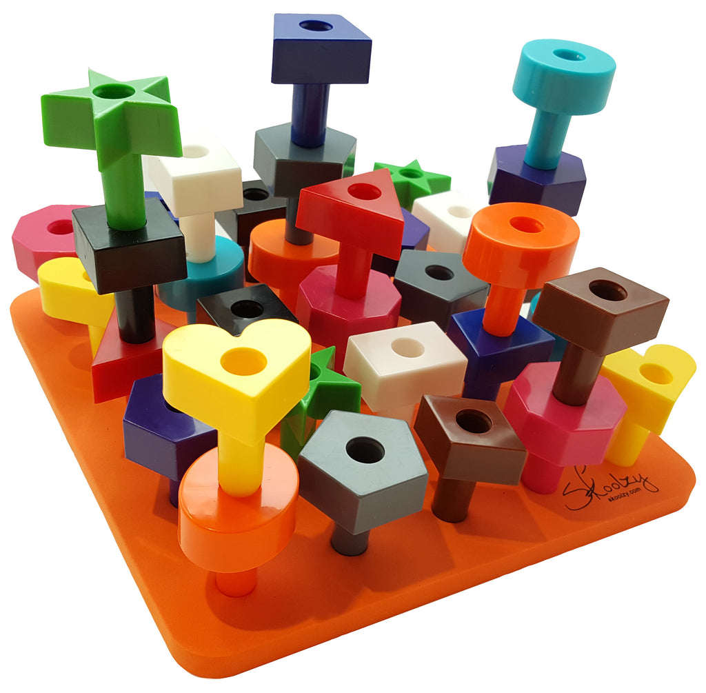 Toddler Toys Puzzle : Peg board shapes puzzle pc occupational therapy