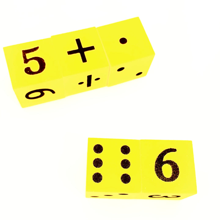 Mathematical Die toys for toddlers kids