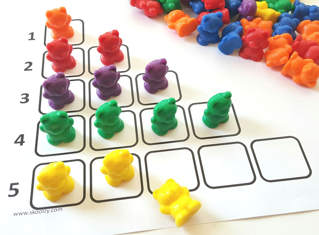 Rainbow Counting Bears with Matching Sorting Cups, Sorting ...