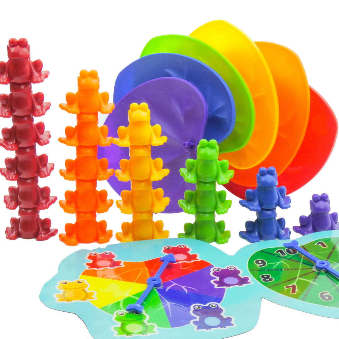 Stacking Frogs Montessori Toys for Toddlers with Matching Lily Pads<p><font><small><b>SK-044</small>
