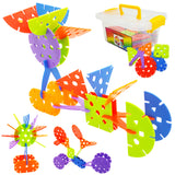 toddler stem toys - creative rainbow flakes