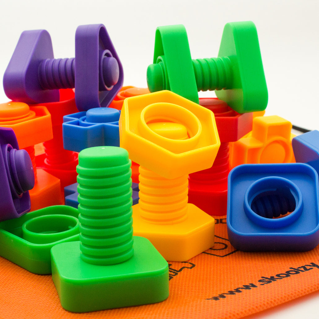 Fidget Toys for Sensory Kids - Nuts and Bolts Fine Motor Skills. Occupational Therapy Toddler Toys <p><font><small>SK-040</small></font></p>