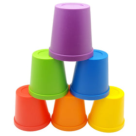 6 Rainbow Primary Color Identification, Sorting and Matching Cups by Skoolzy<p><font><small><b>SK-039</small>