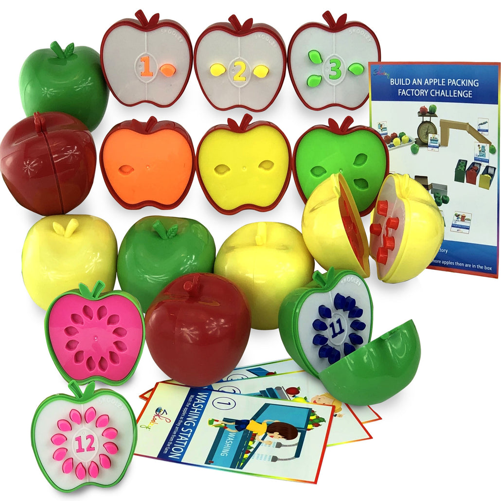 Skoolzy Counting Toddler Games - STEM Apple Factory Learning Toys<p><font><small><b>SK-063</small>