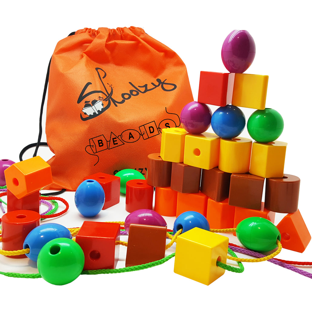 Lacing & Stringing Bead Set for Toddlers<p><font><small><b>SK-001</small>