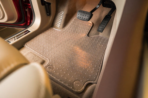 Completely clear, virgin vinyl, car mat by ExactMats® Auto that is perfectly fit to an original factory OEM mat for a vehicle