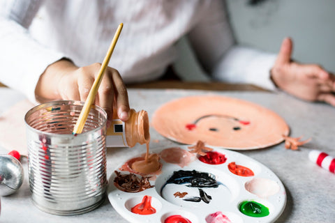 Kids messy table art projects
