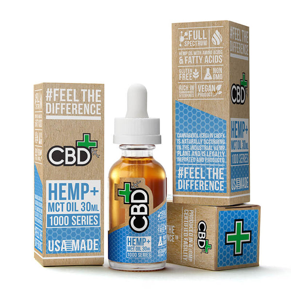 CBD Hemp + MCT Oil Tincture 1000mg