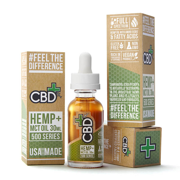 CBDfx Hemp + MCT Oil Tincture 30mL / 500mg - Image 1