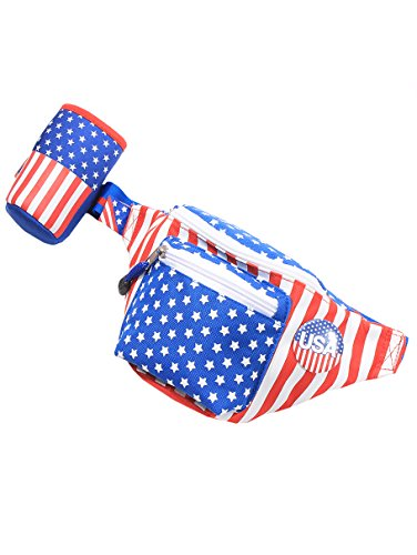 American Flag Fanny Pack With Drink Holder