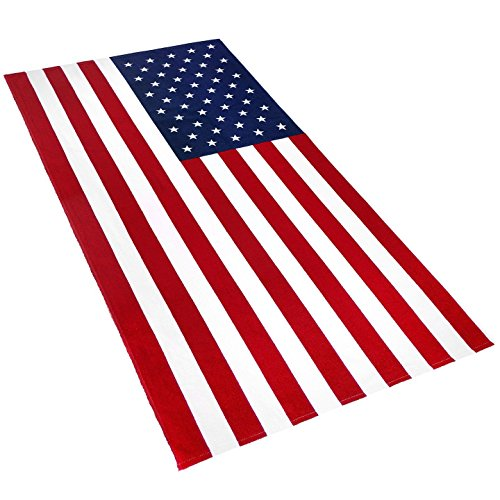 American Flag Beach Towel