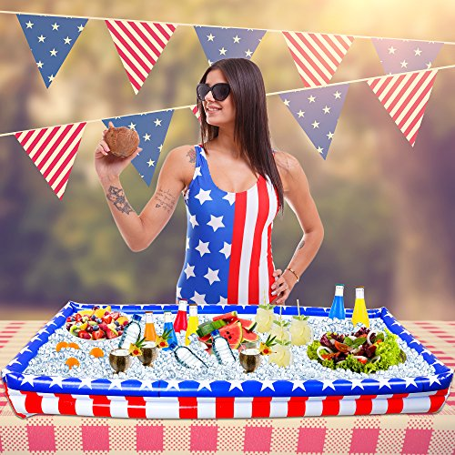 Inflatable Red, White and Blue Buffet Cooler