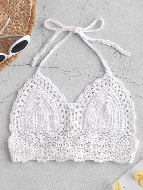 Crochet Scallop Halter Top