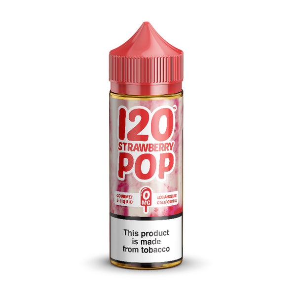 120 STRAWBERRY POP E-JUICE (120 ml.) - 0mg.