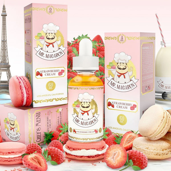 Mr. Macaron Strawberry Cream E-JUICE