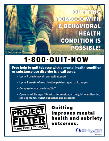 Project Filter Behavioral Health Program Flyer