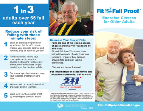 Fit and Fall Proof Brochure