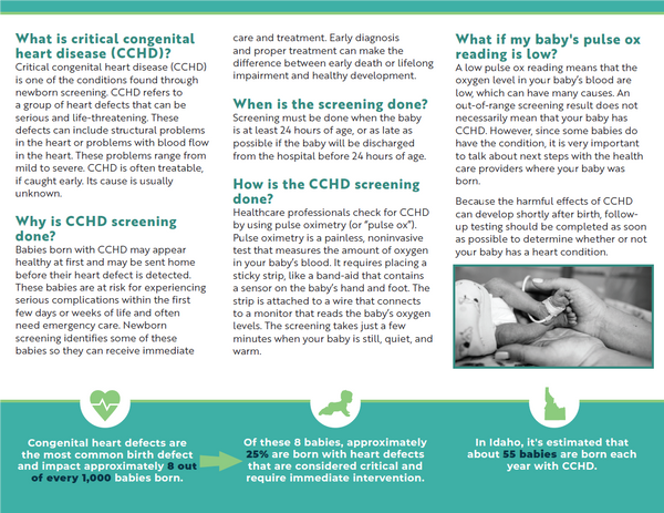Critical Congenital Heart Disease (CCHD) General Brochure